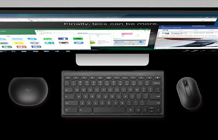 Desk - sem fios e instalação clean - Jedi Remix Mini - Terminal Android de baixo custo
