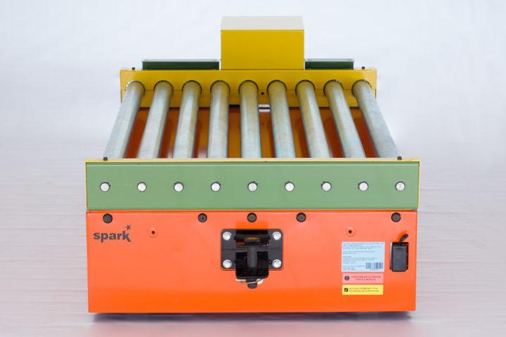 AGV com roletes automatizados - traseira