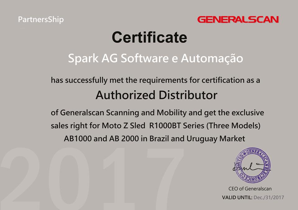 Spark é distribuidor exclusivo e autorizado da Generalscan no Brasil e Uruguai.